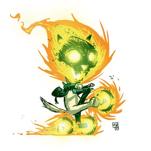 Cat Ghost Rider by Skottie Young