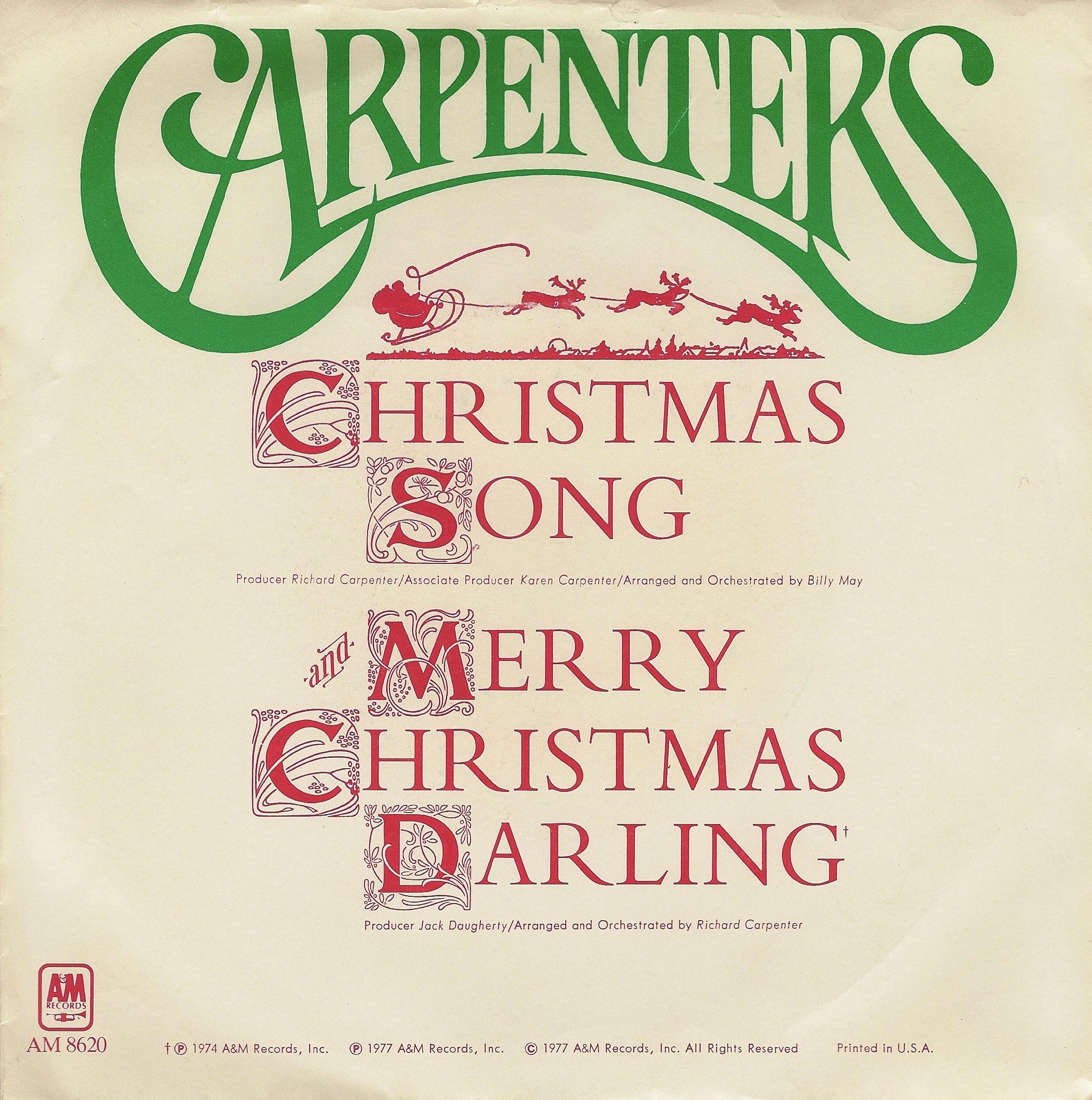 Merry Christmas Darling.The Adventurers Club Carpenters Merry Christmas Darling