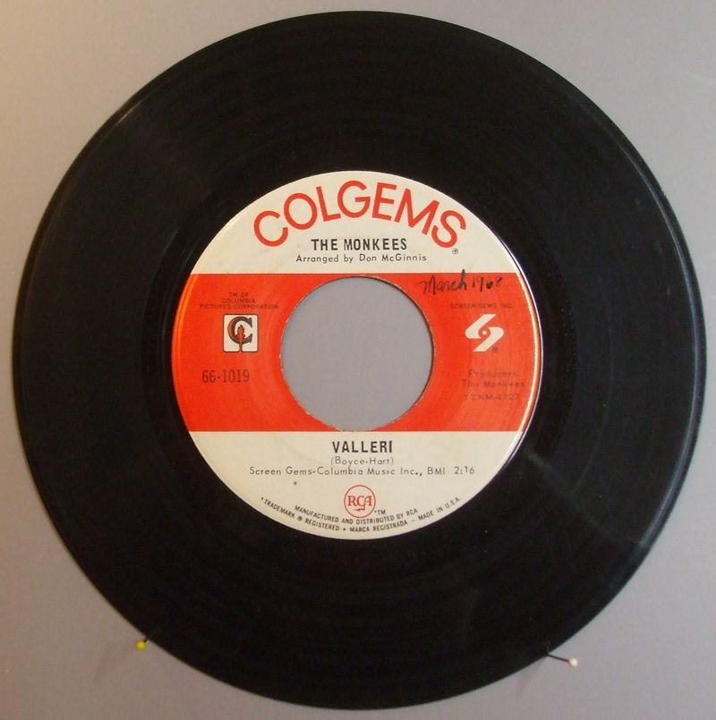 Monkees-valleri-vinyl-45