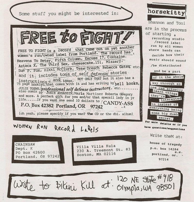 Bikini kill anti pleasure dissertation lyrics