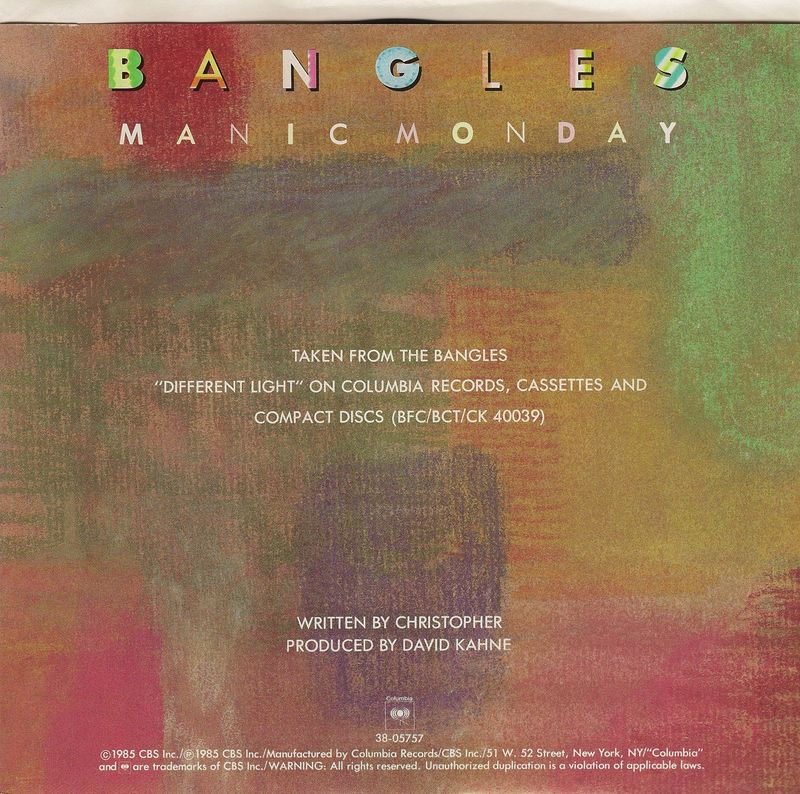 Bangles-manic-monday-sleeve-back