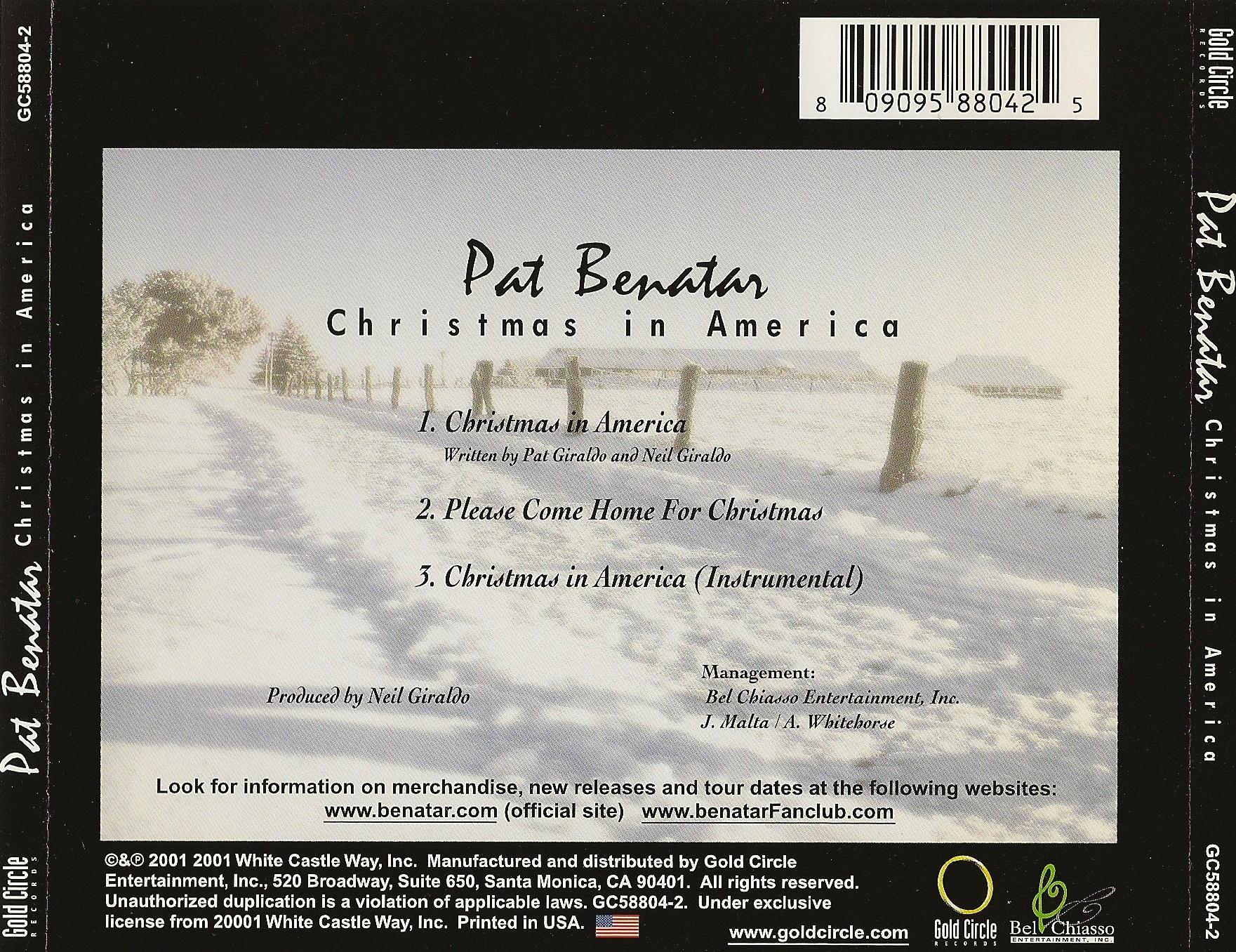 The Adventurers Club Pat Benatar Christmas in America