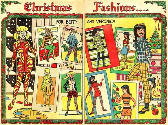 Betty and Veronica Christmas fashion