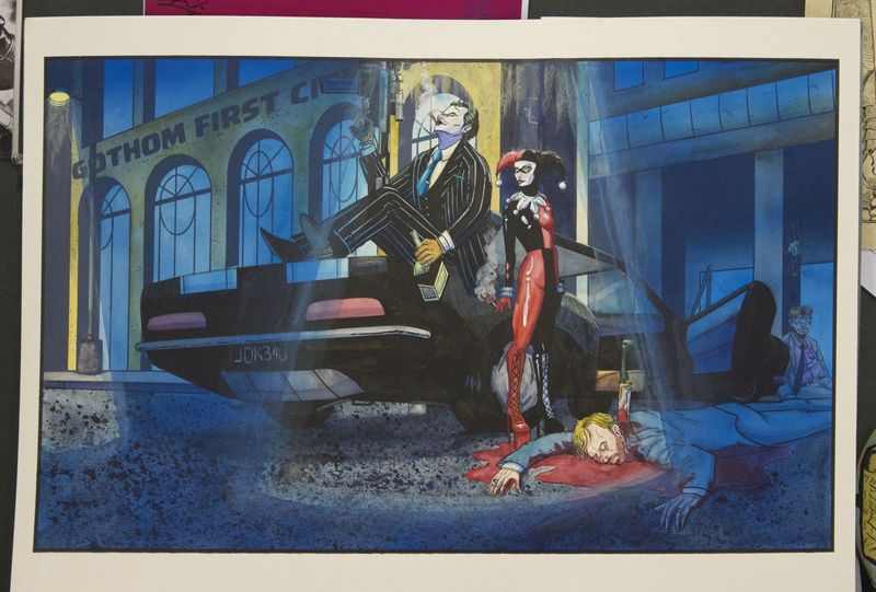 Heroescon-2014-art-auction-joker-harley